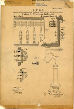 Telephone Patent June 14, 1881