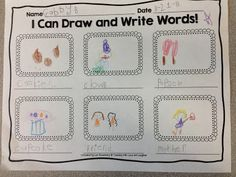 Children could sequence a picture book using sheet by drawing pictures and picking out key words