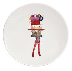 Platos de postre Diane decorados con dibujos Veronique Lataste, Haviland,