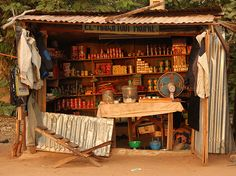 All the essentials - streetside store in Natitingou West African Countries, Essentials, The Essential, Old And New, Store, Places, Art, Souvenir, The World
