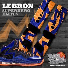 Image of Lebron Superhero Nike Elite Socks