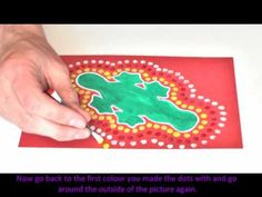 Aboriginal Dot Art that kids can easily do