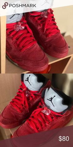 465dfe8d9d4492 Retro 5 Jordan s Red suede retro 5 Jordan s Jordan Shoes Sneakers Retro 5  Jordans