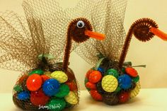 My family has been making these candy turkeys each Thanksgiving for years.I don't know when we started.I think of these turkeys when I think of Thanksgiving