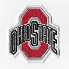 NCAA Ohio State Buckeyes Iron On Patches Embroidered Sew Applique Badge Emblem #Unbranded