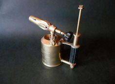 Antique Brass Blow Torch Optimus Made in Sweden door MemoryOfThePast