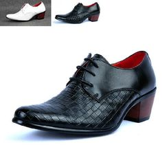 Hishoes Mens Large Size Loafers PU Leather Vamp Lace up Business Oxfords Stud Decor Fashion