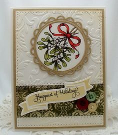 CAS Christmas card using Flourishes stamps