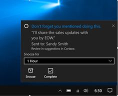 Microsoft pushes Suggested Reminders for Cortana to all Windows 10 users today. Now, Microsoft's digital assistant can proactively remind you to keep promises you may have forgotten.