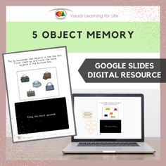 This digitally interactive resource is designed for use with Google Slides. This resource contains 10 slides in total.The student must remember all the objects in top box, in order to identify the the same objects in the bottom box from memory.