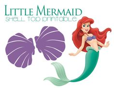 Ariel Little Mermaid Purple Shell Top Iron On by PartyByAPrincess