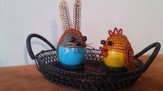 Easter bunny and chick egg