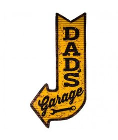 Dad's Garage Arrow Metal Wall Decor