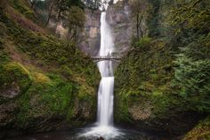 Multnomah Falls, Columbia River Gorge, Oregon - Was down in Portland for the weekend and couldn't help but make a quick trip out to Multnomah Falls. A 620 foot drop in two drops. Beautiful as always!
