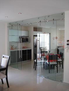 Glass Barn Doors, Sliding Glass Door, Home Living Room, Living Room Designs, Window Glass Design, Glass Porch, Sliding Door Design, House Front Design, Small House Plans