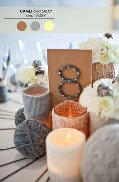 A Neutral Palette // 5 Winter Wedding Color Palettes - www.theperfectpalette.com - Color Ideas for Weddings + Parties