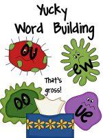 Grade with Miss Snowden: Yucky Word Building Center Teaching Phonics, Kindergarten Literacy, Student Teaching, Teaching Ideas, Reading Lessons, Kids Reading, Teaching Reading, Shared Reading, Learning