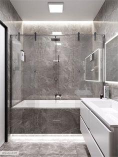 Bathroom decor for your bathroom remodel. Discover bathroom organization, bathroom decor ideas, bathroom tile ideas, bathroom paint colors, and more. Sea Bathroom Decor, Grey Bathroom Tiles, Bathroom Vanity Designs, Master Bedroom Bathroom, Bathroom Design Luxury, Grey Bathrooms, Bathroom Layout, Bathroom Design Small, Bathroom Styling