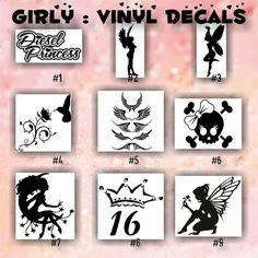 BEAUTY SALON Vinyl Decals Custom Car Window Stickers - Hair stylist custom vinyl decals for car