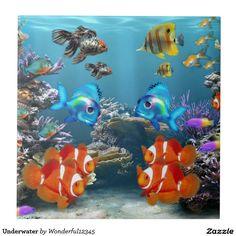 Underwater Large Square Tile