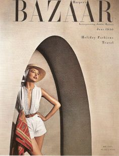 [1950] ALEXEY BRODOVITCH (1898-1971) _1943 a 1958 Director de arte de HARPER'S BAZAAR. _Incorpora la SOFISTICACIÓN visual europea al producto dirigido al gran público. _inventó las premisas de la maquetación, el espacio y la COMPOSICIÓN de DOBLE PÁGINA. _juego entre texto & fotografía. _dinamismo / ritmo / asimetría.
