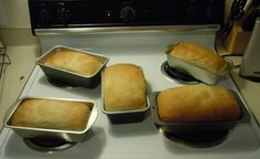No Knead Bread (5 Loaves in 2 hours!)