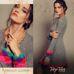 Florencia Llompart Tejidos Invierno 2016 - Sweaters, Chalecos y Ponchos - El Bazar Crochet Clothes, Knit Cardigan, Crochet Necklace, Knitting, Womens Fashion, Sweaters, Inspiration, Dresses, Refashioning