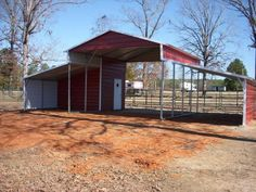 42 x 21 horse barn with a storage building built in.