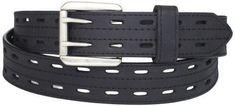 Danbury Work Wear Men's Big Double Prong Belt Black 52 Belts Accessories Shoes