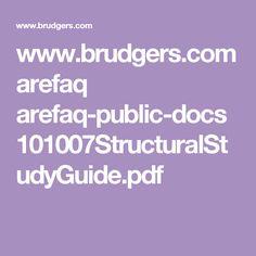 www.brudgers.com arefaq arefaq-public-docs 101007StructuralStudyGuide.pdf