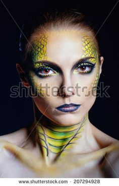 serpent make up - Google Search
