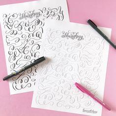 Flourishing Tips and Free Practice Worksheet