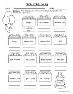 Place Value Puzzle   Math Math Worksheets And Worksheets