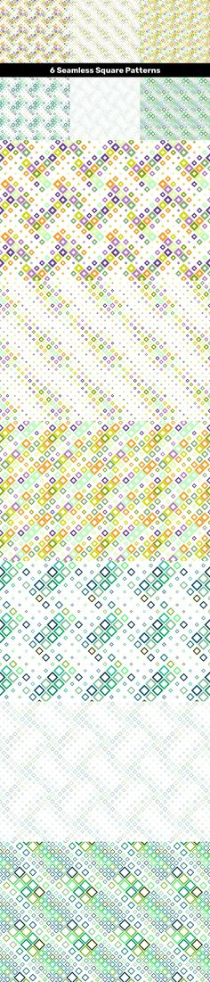 6 Seamless Square Patterns #tiled #patternbackground #vector #DavidZydd #discount #geometrical #swatch #squared #VectorPatterns #GeometricalPatterns #CheapBackground #PatternCollection #sale #DiscountBackground #multicoloredbackground #geometricpattern #PremiumVector #PatternGraphics #digitaltemplate