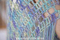 Free Crochet Boho Triangle Shawl Pattern - Expression Fiber Arts, Inc.
