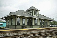 The historic City of Lapeer Train Depot