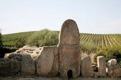 The Giants Tomb of Coddu Vecchiu, Arzachena, Sardinia, Italy