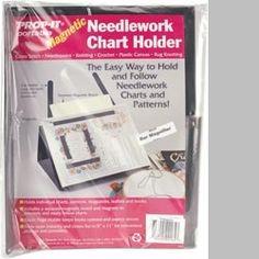 PROP IT Magnetic Needlework Chart Holder W/Magnifier