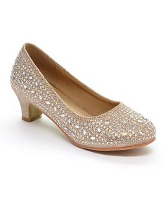 400cc1d27299 Adorababy Champagne Rhinestone Dressy Shoe