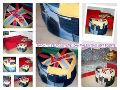 iF YOU ARE LOOKING FOR INSPIRATION TO SEW FOR VALENTINE DAY! tHIS MEGA POUFFE MADE WITH RECYCLED JEANS