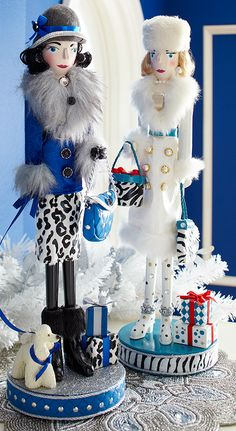 Cute! Shopper nutcrackers make for fun girlfriend gifts and Christmas displays.