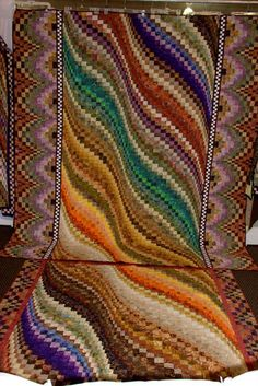two of the bargello quilts. I love the bargello, I made vests' with this pattern turned out beautiful.