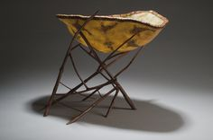 Barbara Sperling using lilac twigs and craft clay