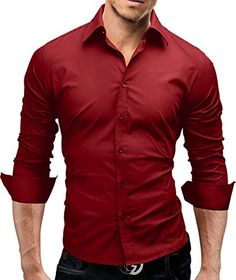 156358c5 MERISH Dress Shirt for Men Slim Fit Business Shirt long sleeve casual and  chic suitable for all occasions Model 01: Amazon.co.uk: Clothing
