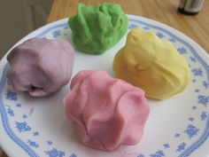 Playdough Recipe that is way too easy. I tried it myself and it is as easy as the instructions are. My toddler had a blast. I did not use any food coloring though.