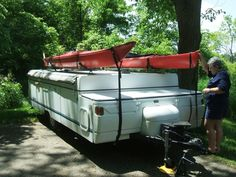 Getting the Kayaks & the Pup to camp on Pop Up Portal