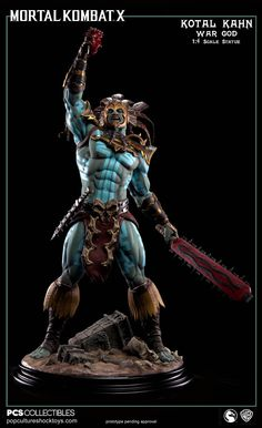 Kotal Kahn 'War God' Statue by Pop Culture Shock [Mortal Kombat X]