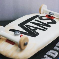 Retro skateboard cake