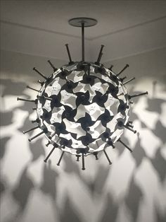 Recycled metal feature light by Metal Art Design