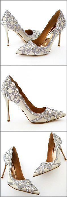 "Sparkling stilettos that define ""Sexy"". Badgley Mischka Rouge Wedding Shoes. Also fabulous 4 the cocktail hour."